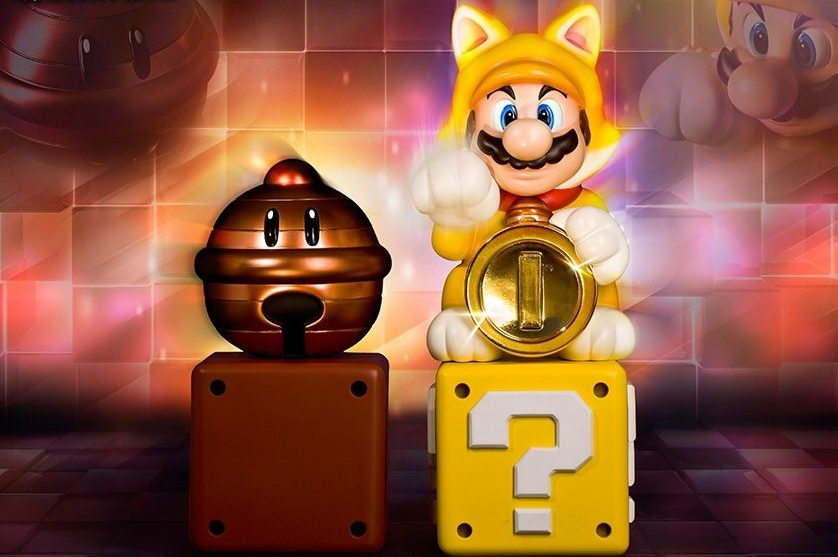 Super Mario 3D World Cat Mario Exclusive Edition Statue