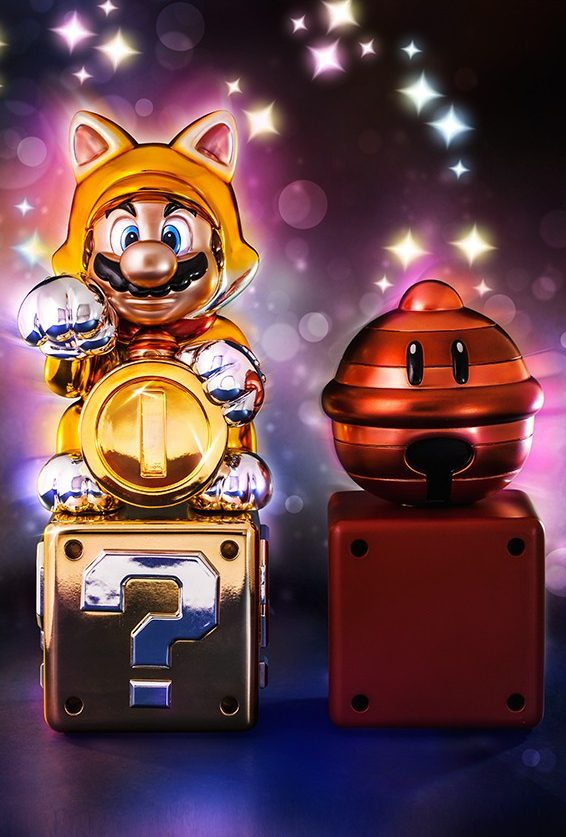 Super Mario 3D World Lucky Cat Mario Statue